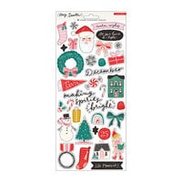 Crate Paper - Hey Santa Collection - 6 x 12 Cardstock Stickers