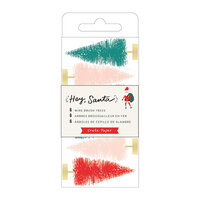 Crate Paper - Hey Santa Collection - Wire Brush Trees - Multicolor