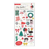 Crate Paper - Hey Santa Collection - Puffy Stickers