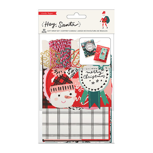 Crate Paper - Hey Santa Collection - Gift Wrap Set