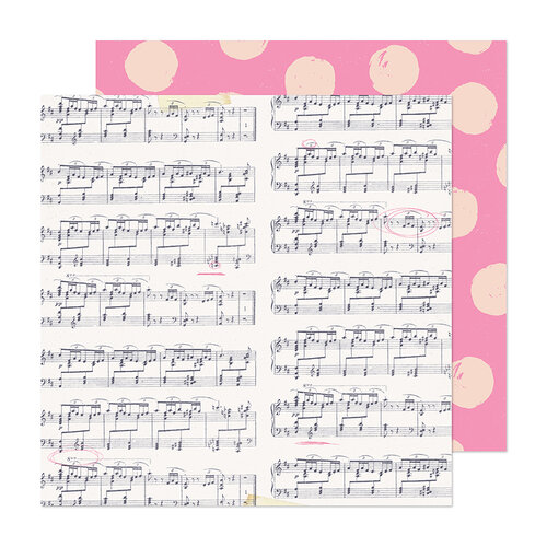 Crate Paper - Marigold Collection - 12 x 12 Double Sided Paper - High Note