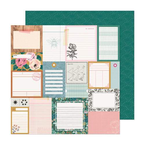 Crate Paper - Marigold Collection - 12 x 12 Double Sided Paper - Remember When