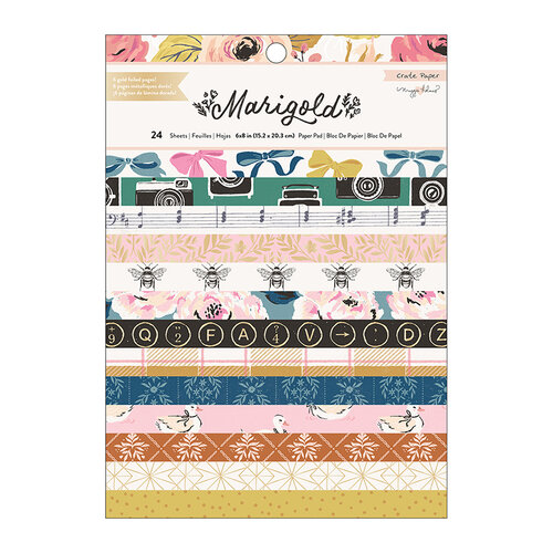 Crate Paper - Marigold Collection - 6 x 8 Paper Pad with Foil Accents