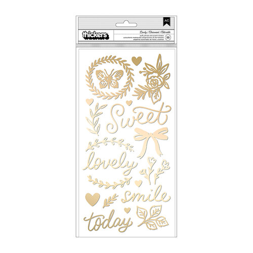 Maggie Holmes - Marigold Collection - Thickers - Phrase and Icon - Puffy Gold Foil - Lovely
