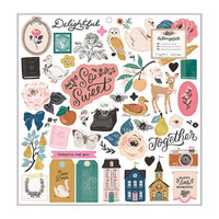 Maggie Holmes - Marigold Collection - 12 x 12 Chipboard Stickers