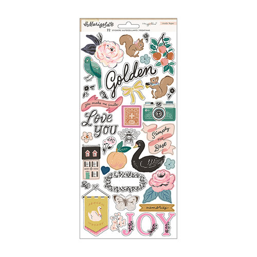 Maggie Holmes - Marigold Collection - 6 x 12 Cardstock Stickers
