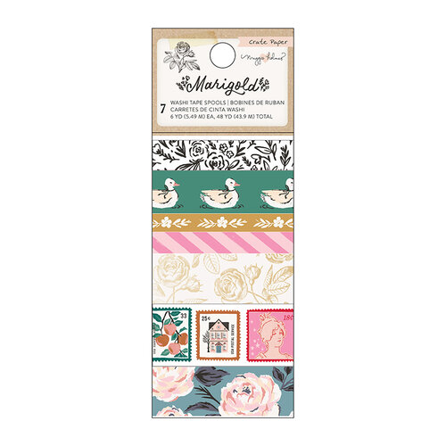 Crate Paper - Marigold Collection - Washi Tape with Gold Foil Accents
