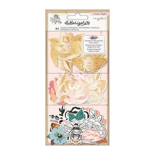 Crate Paper - Marigold Collection - Ephemera Pack - Floral