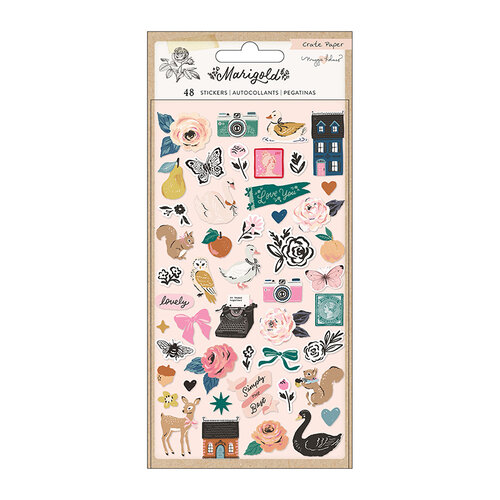 Crate Paper - Marigold Collection - Puffy Stickers