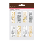 American Crafts - Clothespins - Newsprint and Lace