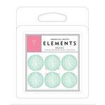 American Crafts - Brads - Glitter - Mint Circles