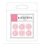 American Crafts - Brads - Resin - Pink Flowers