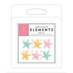 American Crafts - Brads - Resin - Stars