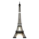 American Crafts - Wall Art - Wall Decals - Gold Foil - Eiffel Tower