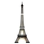 American Crafts - Wall Art - Wall Decals - Gold Foil - Eiffel Tower