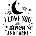 American Crafts - Wall Art - Wall Decals - Vinyl - Moon and Back Quote