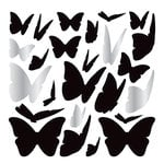 American Crafts - Wall Art - Wall Decals - Silver Foil - Butterflies