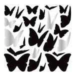 American Crafts - Wall Art - Wall Decals - Silver Foil - Butterflies