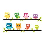American Crafts - Wall Art - Wall Decals - Owls