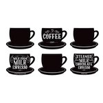 American Crafts - Wall Art - Wall Decals - Coffee Cups