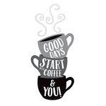 American Crafts - Wall Art - Wall Decals - Coffee Quote