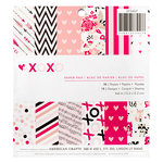 American Crafts - Valentines Collection - 6 x 6 Paper Pad - XOXO