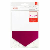 American Crafts - Valentines Collection - Banner - Foil - White and Pink