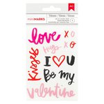 American Crafts - Valentines Collection - Rub Ons - Words