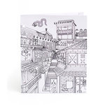 American Crafts - Hall Pass Collection - Adult Coloring - Folder - Ninja