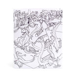 American Crafts - Hall Pass Collection - Adult Coloring - Folder - Dinosaur