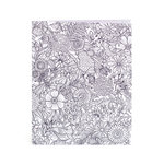 American Crafts - Hall Pass Collection - Adult Coloring - Folder - Floral