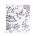 American Crafts - Hall Pass Collection - Adult Coloring - Folder - Kitty Karaoke