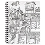 American Crafts - Hall Pass Collection - Adult Coloring - Sketchbook - 8.5 x 11 - Ninja