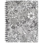 American Crafts - Hall Pass Collection - Adult Coloring - Sketchbook - 8.5 x 11 - Floral