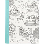 American Crafts - Hall Pass Collection - Adult Coloring - Composition Notebook - 7.5 x 9.75 - Kitty Karaoke