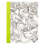 American Crafts - Hall Pass Collection - Adult Coloring - Composition Notebook - 7.5 x 9.75 - Dinosaur