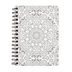 American Crafts - Hall Pass Collection - Adult Coloring - Spiral Notebook - 6 x 8.25 - Kaleidoscope