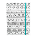 American Crafts - Hall Pass Collection - Adult Coloring - Elastic Notebook - 5 x 7 - Tribal
