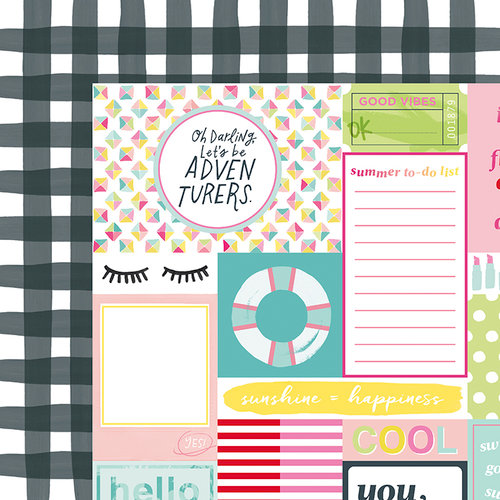 American Crafts - Happy Place Collection - 12 x 12 Double Sided Paper - Top Notch
