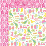 American Crafts - Happy Place Collection - 12 x 12 Double Sided Paper - Kokomo