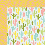 American Crafts - Happy Place Collection - 12 x 12 Double Sided Paper - Cactus Cooler