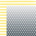 American Crafts - Happy Place Collection - 12 x 12 Double Sided Paper - Lemon Berry