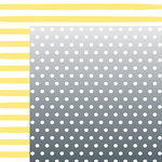 American Crafts - Dear Lizzy Collection - Happy Place - 12 x 12 Double Sided Paper - Lemon Berry