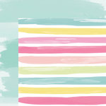 American Crafts - Happy Place Collection - 12 x 12 Double Sided Paper - Beachy Betsy