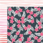 American Crafts - Happy Place Collection - 12 x 12 Double Sided Paper - Bahama Mama