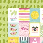 American Crafts - Happy Place Collection - 12 x 12 Double Sided Paper - Sun Kissed