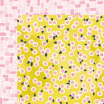 American Crafts - Happy Place Collection - 12 x 12 Double Sided Paper - Darling Daisy