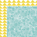 American Crafts - Dear Lizzy Collection - Happy Place - 12 x 12 Double Sided Paper - Key West