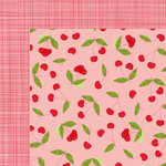 American Crafts - Dear Lizzy Collection - Happy Place - 12 x 12 Double Sided Paper - Cheery Cherry