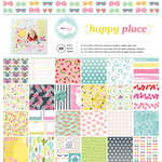 American Crafts - Dear Lizzy Collection - Happy Place - 12 x 12 Paper Pad